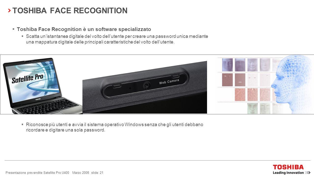 Presentazione prevendite Satellite Pro U400 Marzo 2008 slide: 20 BACKUP