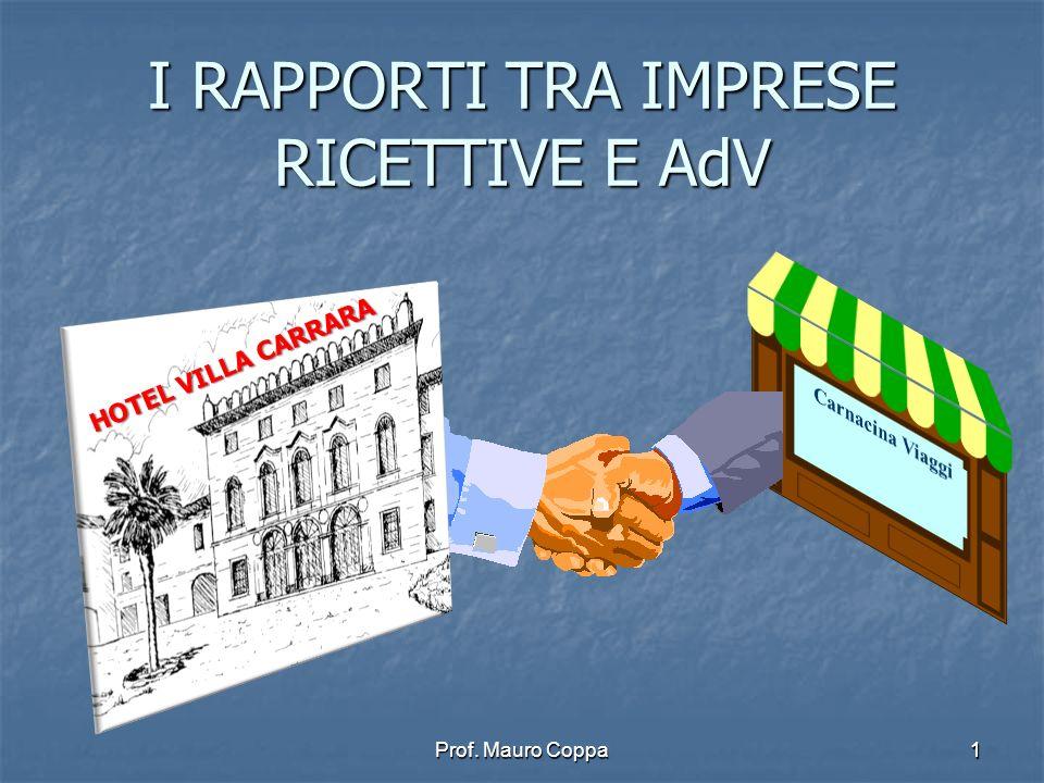 Prof. Mauro Coppa1 I RAPPORTI TRA IMPRESE RICETTIVE E AdV 1 HOTEL VILLA CARRARA