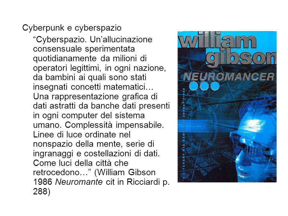 Cyberpunk e cyberspazio Cyberspazio.