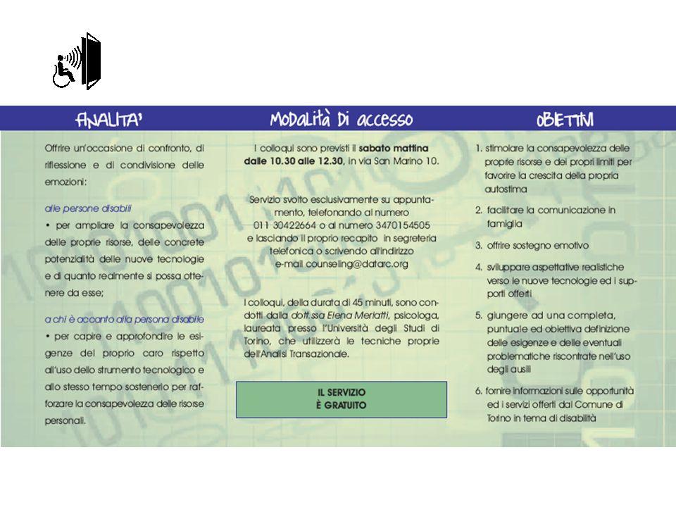 D A T A R C onlus Via San Marino 10 Torino www.datarc.org www.bancoausili.it Mail : datarc@tin.itdatarc@tin.it Telefono 011 3042264