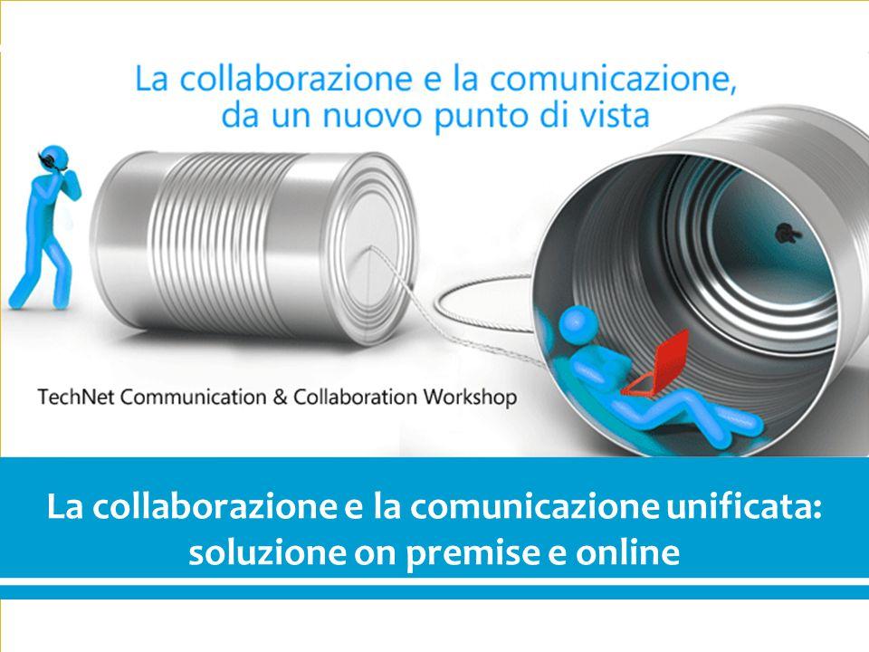1 Communication & Collaboration La collaborazione e la comunicazione unificata: soluzione on premise e online
