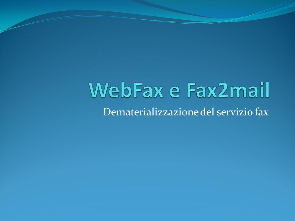 Dematerializzazione del servizio fax