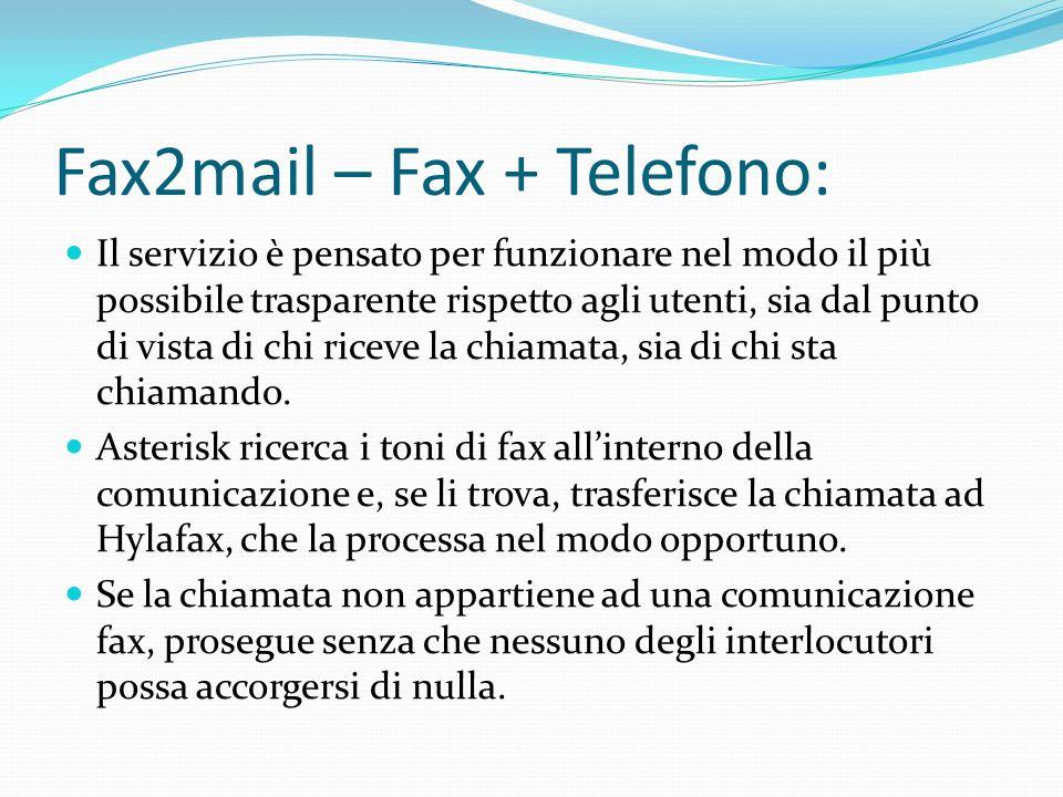Fax2mail – Fax + Telefono: Il servizio è pensato per funzionare nel modo il più possibile trasparente rispetto agli utenti, sia dal punto di vista di