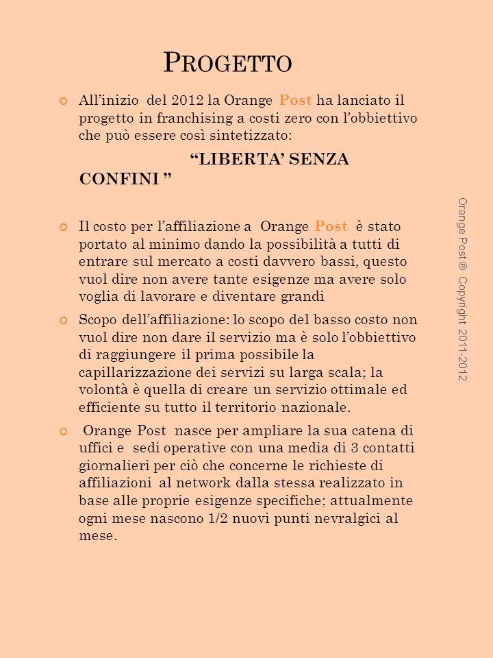 LISTINO Servizi o Servizio e costo Racc O/R Servizi Costo Priori Servizi e costo Racc /S 0 – 20gr3.200.603.00 21 – 50gr 4.201.403.30 51 – 100gr 5.001.504.50 101 – 250gr 5.352.004.80 251 – 350gr 5.502.205.20 351 – 1000gr 7.005.006.00 1001- 2000gr 12.008.0010.00 Orange Post Copyright 2011-2012