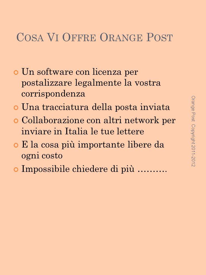 I NFORMAZIONI E N EW Francobollo Pubblicitario La Orange Post tramite il software in collaborazione denominato OPSTAMP vi da la possibilità di inviare