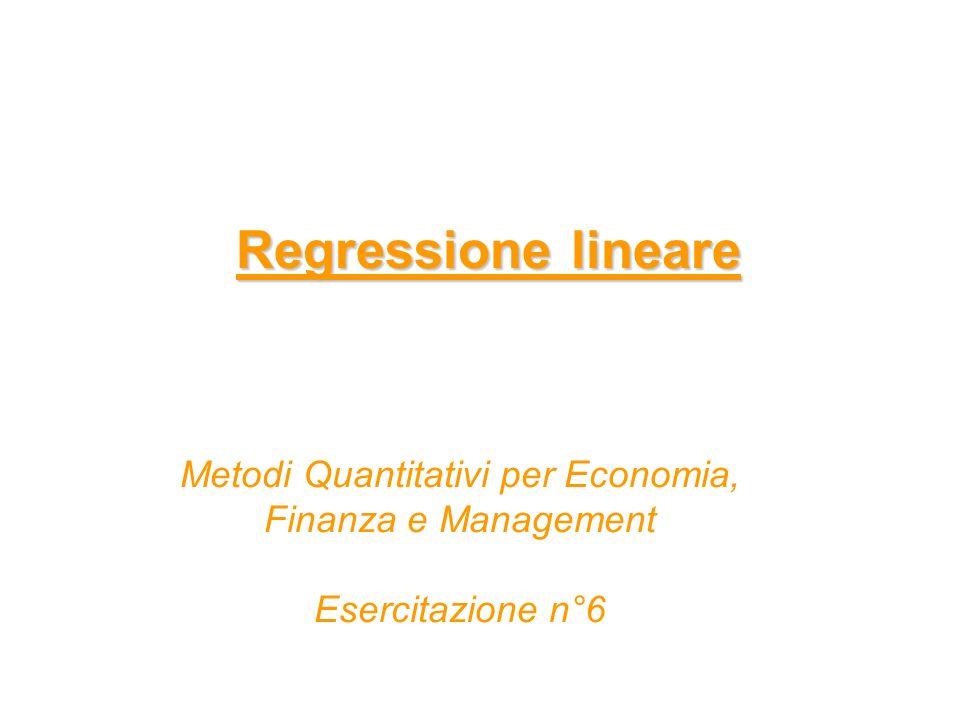 Per verificare la presenza di multicollinearità regressione lineare di Xj sui rimanenti p-1 regressori - Rj² misura la quota di varianza di Xj spiegata dai rimanenti p-1 regressori valori alti=multicollin.