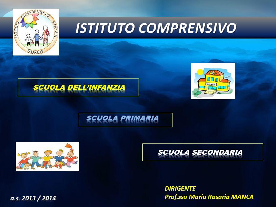 a.s. 2013 / 2014 DIRIGENTE Prof.ssa Maria Rosaria MANCA ISTITUTO COMPRENSIVO