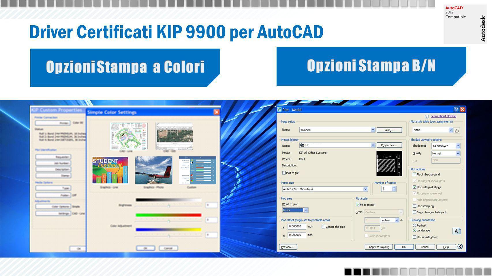 Driver Certificati KIP 9900 per AutoCAD