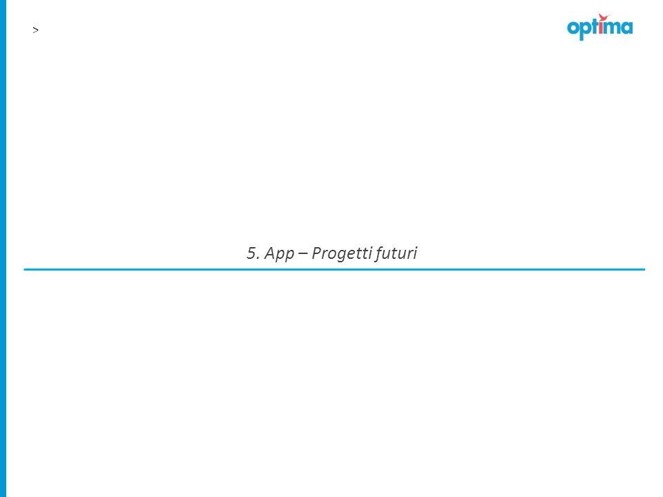 > 5. App – Progetti futuri
