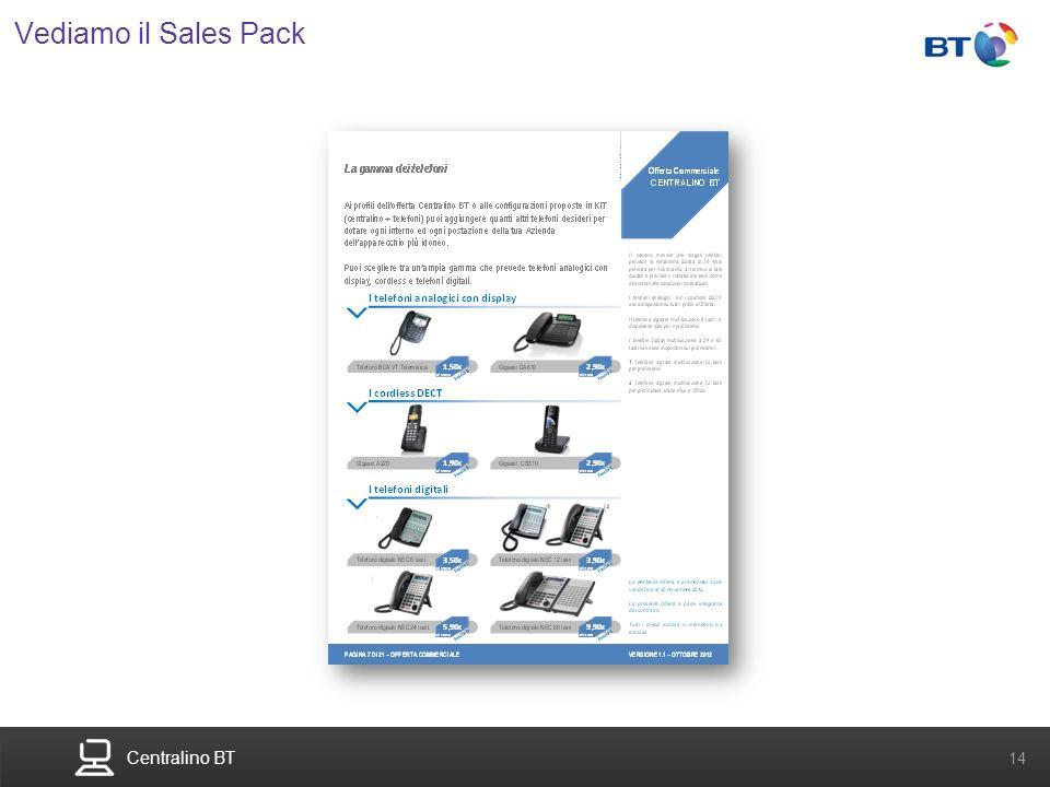 Centralino BT 14 Vediamo il Sales Pack