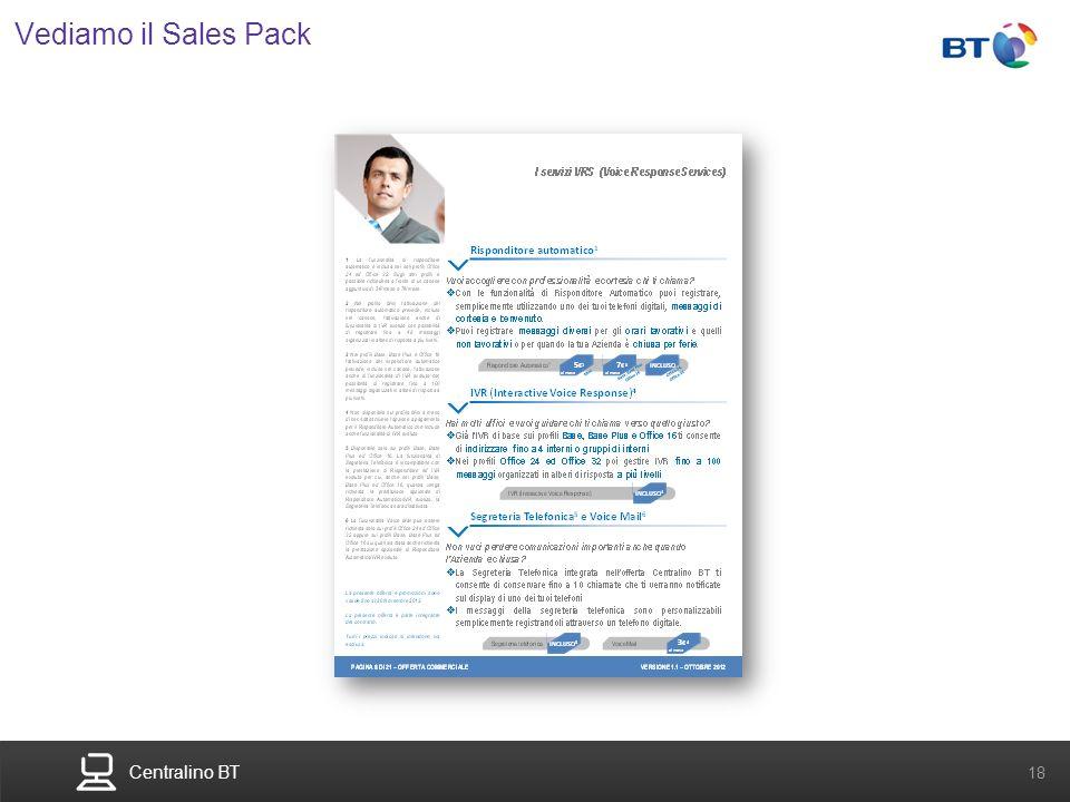 Centralino BT 18 Vediamo il Sales Pack