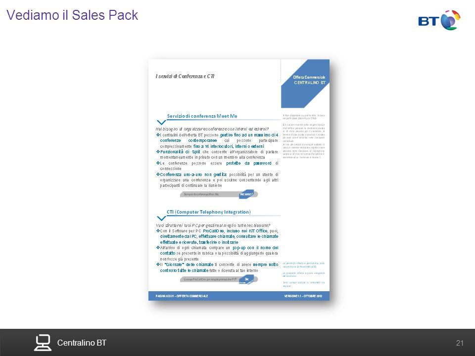 Centralino BT 21 Vediamo il Sales Pack