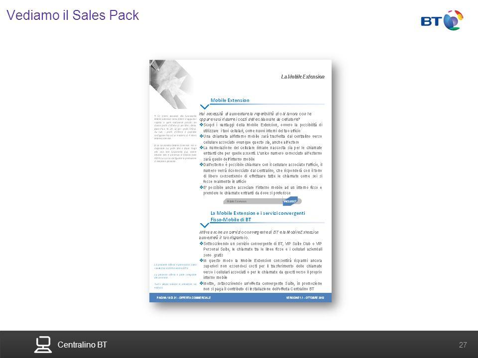 Centralino BT 27 Vediamo il Sales Pack
