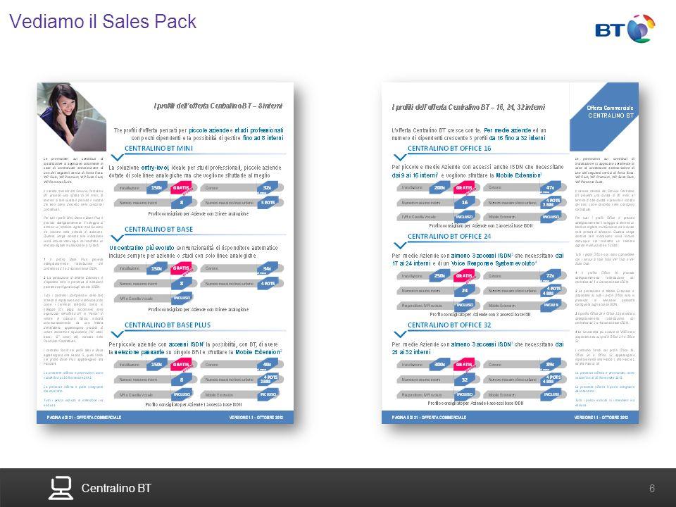Centralino BT 6 Vediamo il Sales Pack