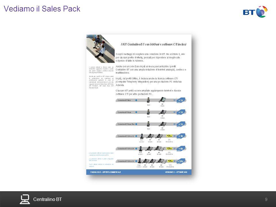 Centralino BT 9 Vediamo il Sales Pack