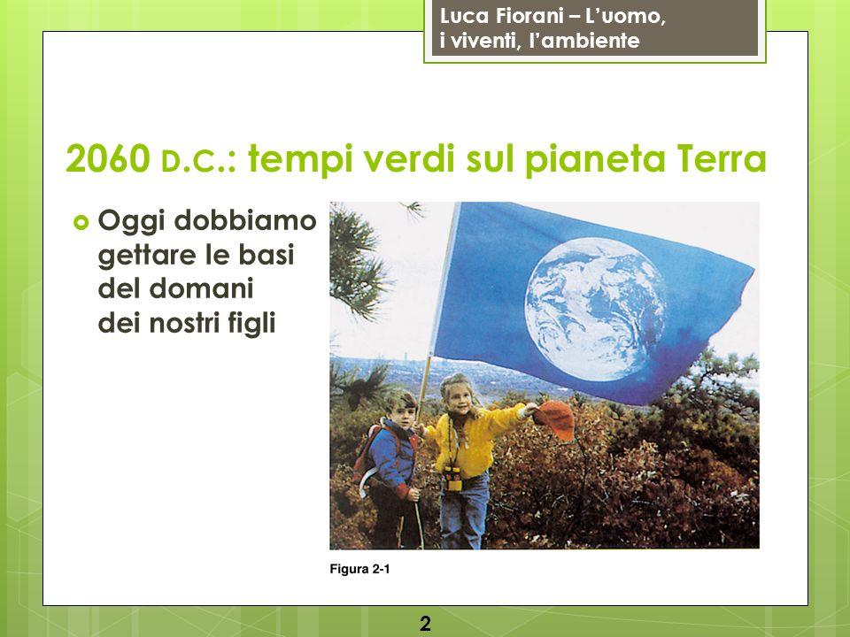 Luca Fiorani – Luomo, i viventi, lambiente 2060 D.