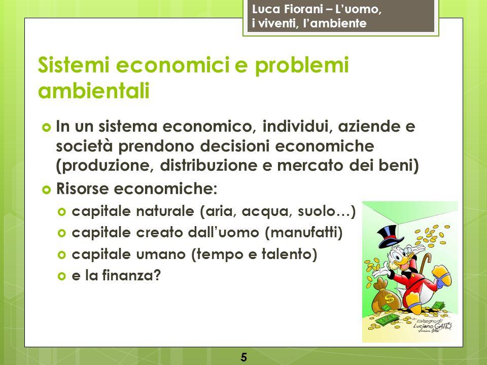 Luca Fiorani – Luomo, i viventi, lambiente Soluzioni: uso dell economia per migliorare la qualità ambientale Inquinamento: rimozione o prevenzione.