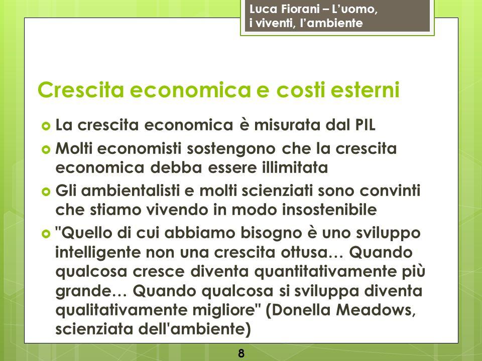 Luca Fiorani – Luomo, i viventi, lambiente L educazione ambientale dovrebbe rispondere a quattro domande essenziali (identità ecologica): da dove vengono le cose che consumo.