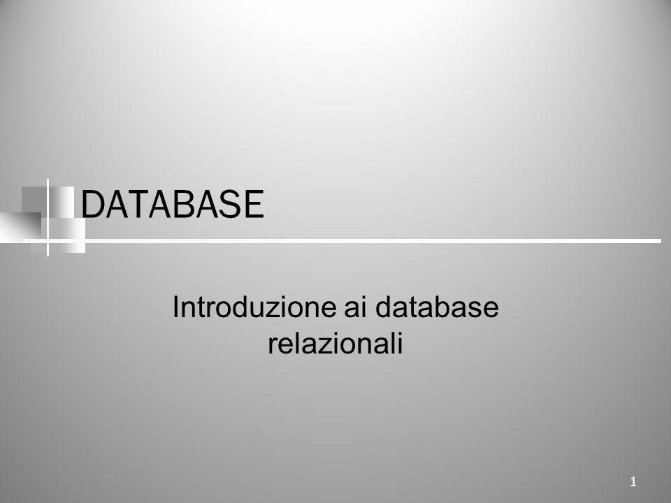DATABASE Introduzione ai database relazionali 1