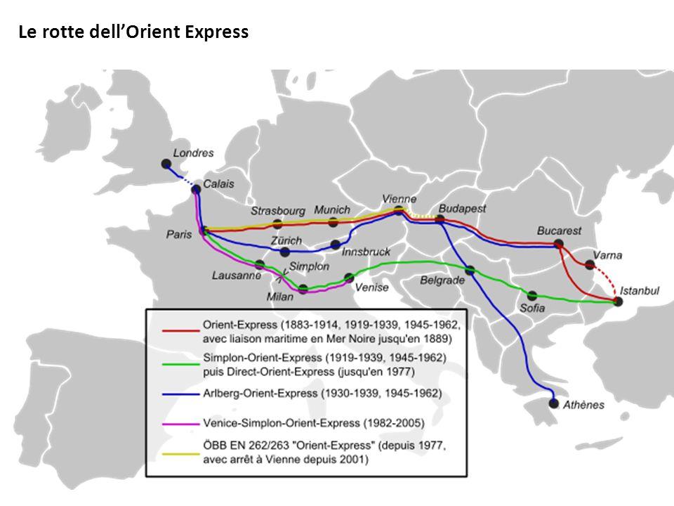 Le rotte dellOrient Express