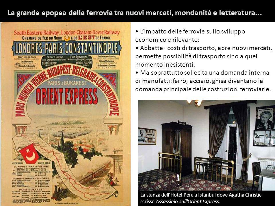 La stanza dellHotel Pera a Istanbul dove Agatha Christie scrisse Assassinio sull'Orient Express. Limpatto delle ferrovie sullo sviluppo economico è ri