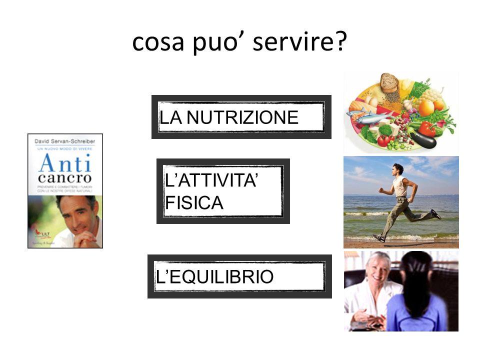 cosa puo servire? LA NUTRIZIONE LATTIVITA FISICA LEQUILIBRIO