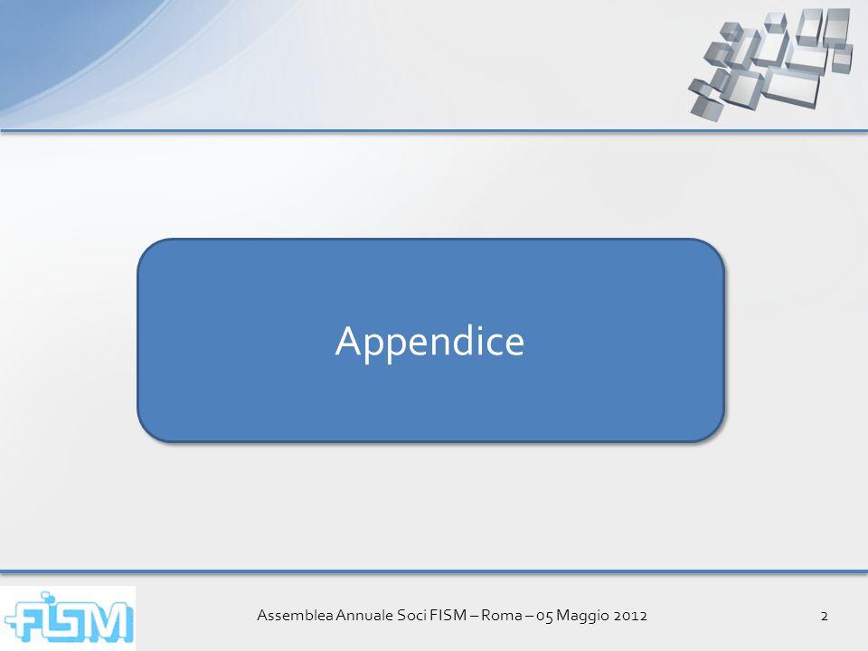 Assemblea Annuale Soci FISM – Roma – 05 Maggio 20122 Appendice