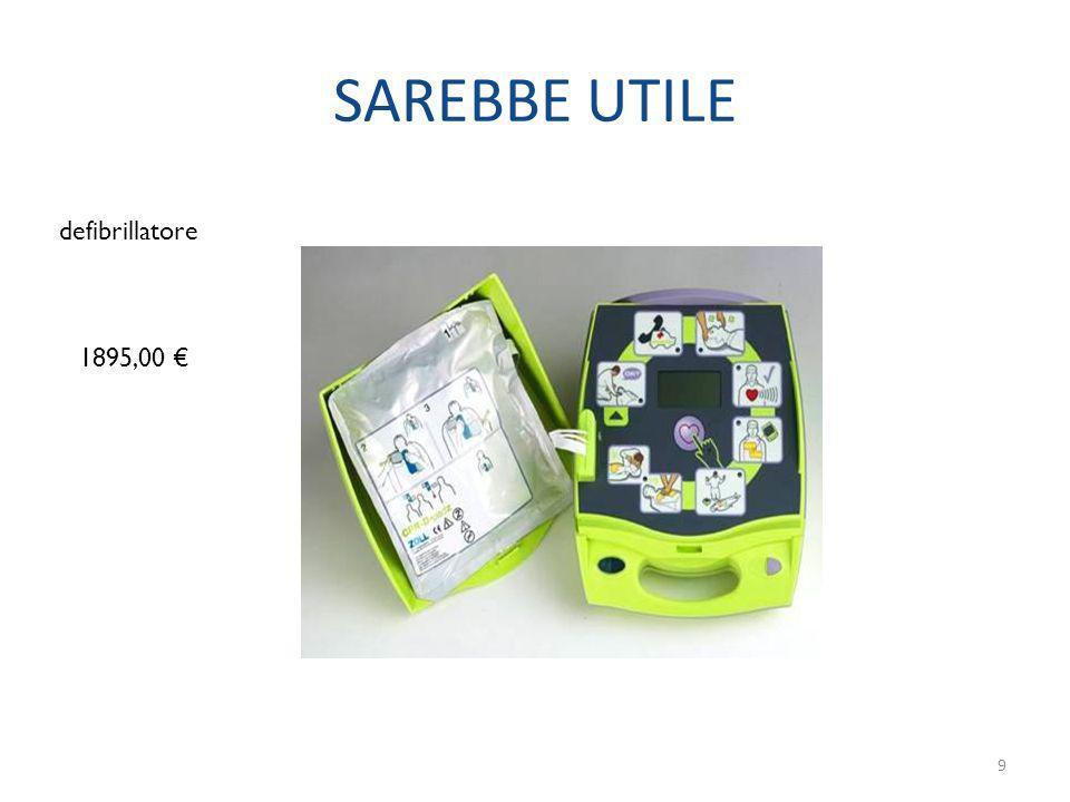 SAREBBE UTILE 1895,00 defibrillatore 9