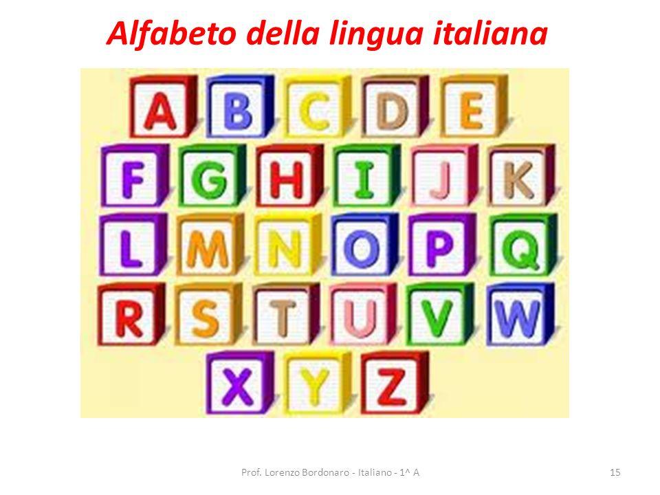 Prof. Lorenzo Bordonaro - Italiano - 1^ A14 Il linguaggio delle bandiere