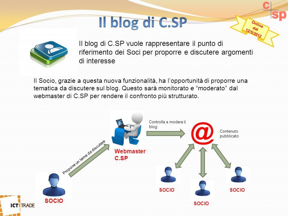 Il blog di C.SP vuole rappresentare il punto di riferimento dei Soci per proporre e discutere argomenti di interesse Il Socio, grazie a questa nuova funzionalità, ha lopportunità di proporre una tematica da discutere sul blog.