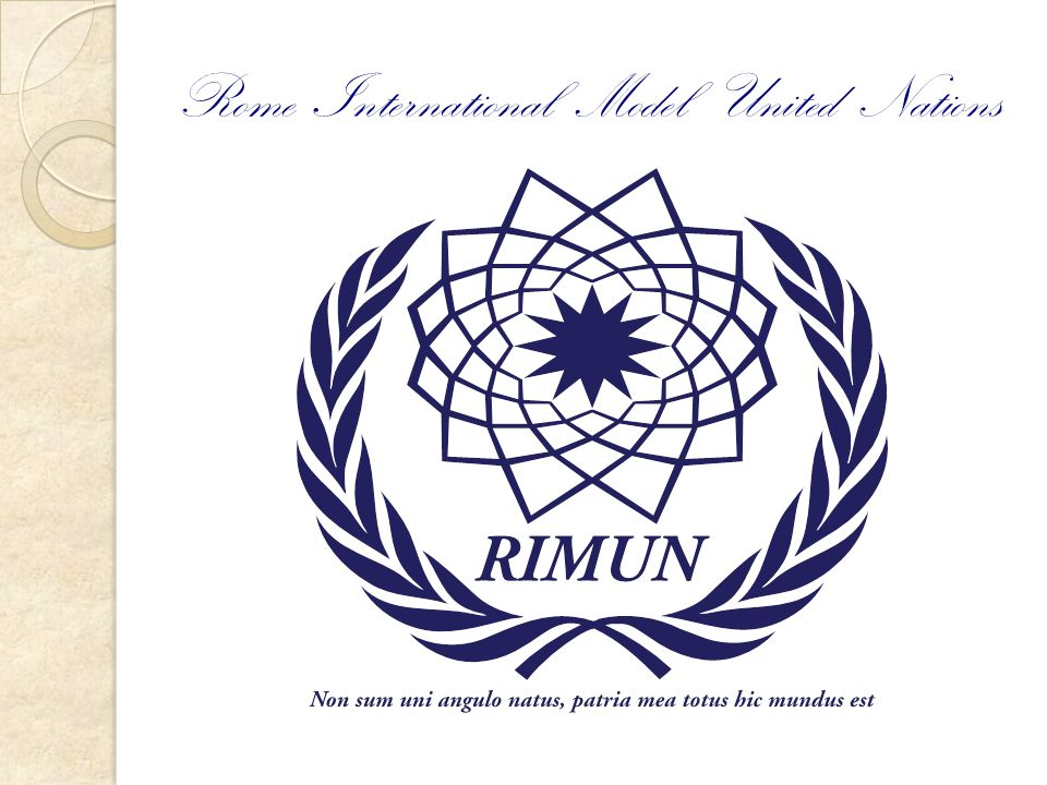Rome International Model United Nations