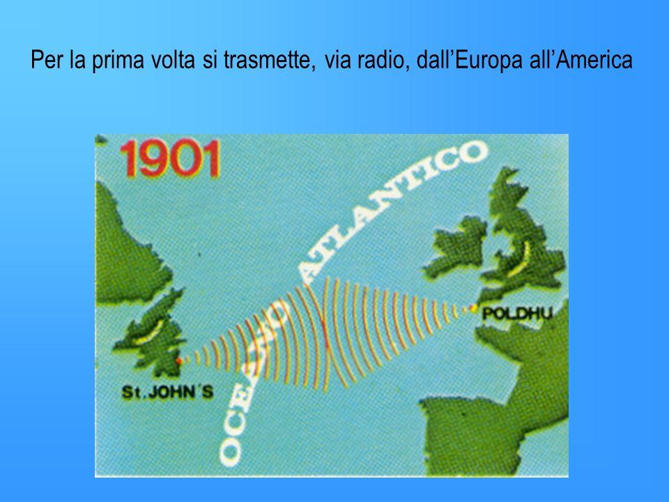 1890 Guglielmo Marconi sperimenta un nuovo modo di comunicare senza fili La via per lattuale sistema di comunicazione era pronta.