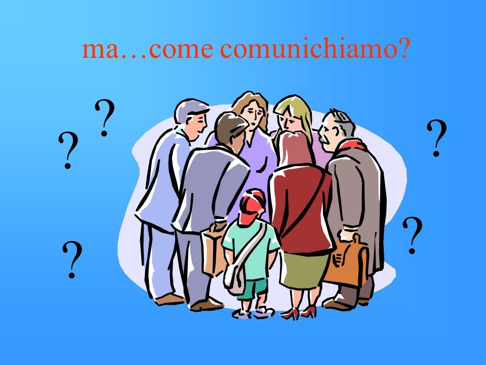 ma…come comunichiamo? ? ? ? ? ?