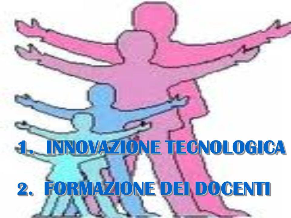 1. INNOVAZIONE TECNOLOGICA 2. FORMAZIONE DEI DOCENTI