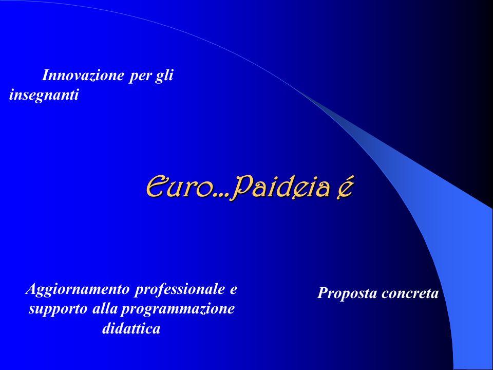 Euro…Paideia é Innovazione per gli insegnanti Aggiornamento professionale e supporto alla programmazione didattica Proposta concreta