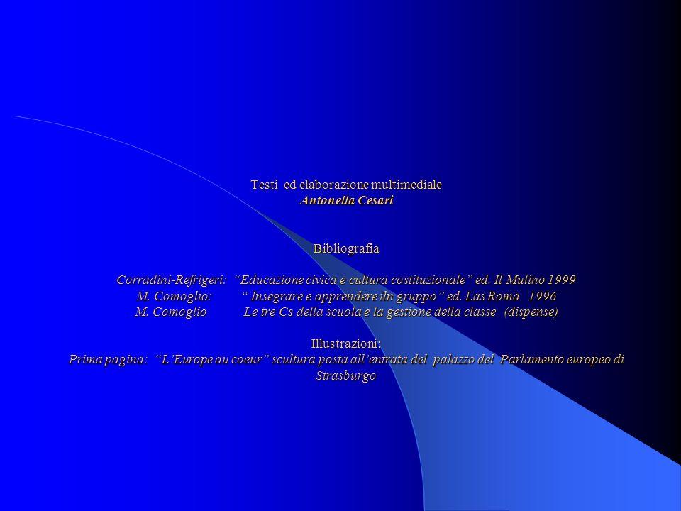 Testi ed elaborazione multimediale Antonella Cesari Bibliografia Corradini-Refrigeri: Educazione civica e cultura costituzionale ed.