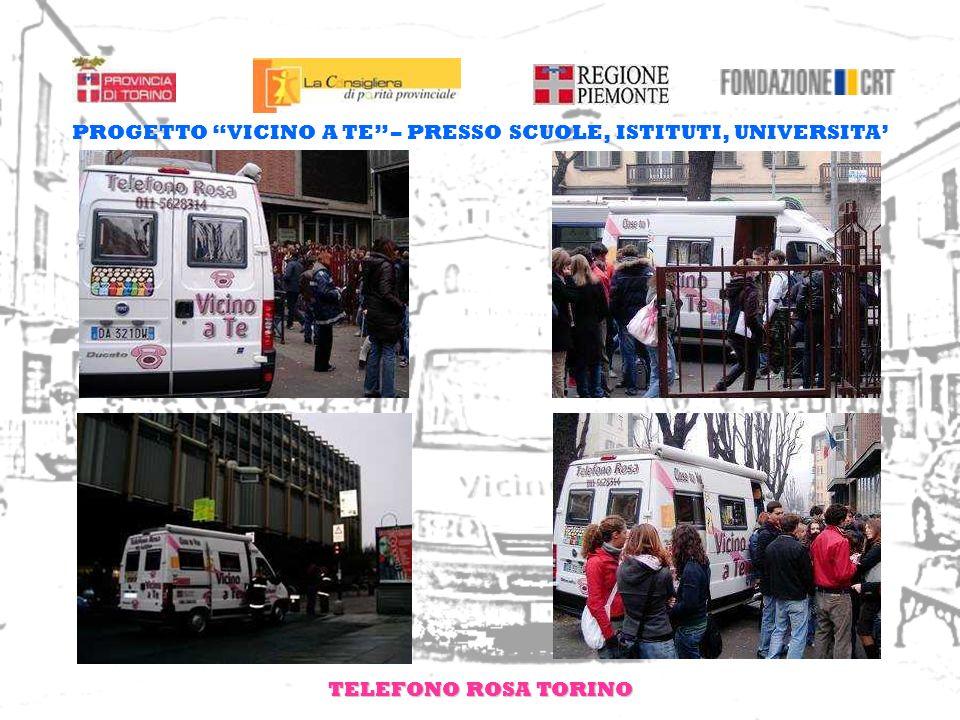 TELEFONO ROSA TORINO PROGETTO VICINO A TE – PRESSO SCUOLE, ISTITUTI, UNIVERSITA