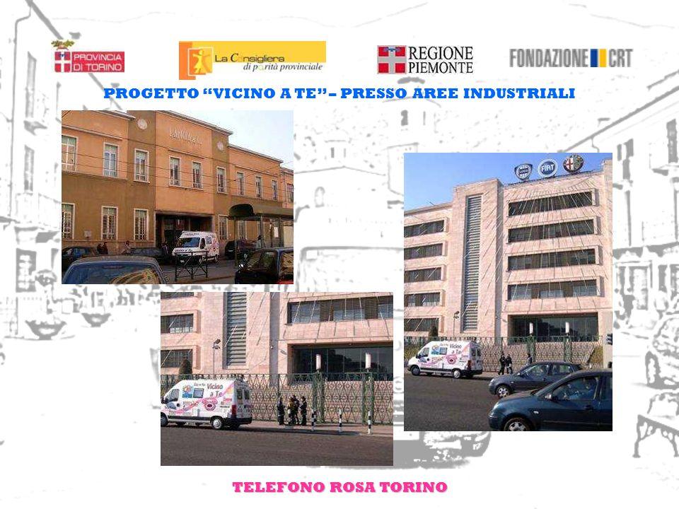 TELEFONO ROSA TORINO PROGETTO VICINO A TE – PRESSO AREE INDUSTRIALI