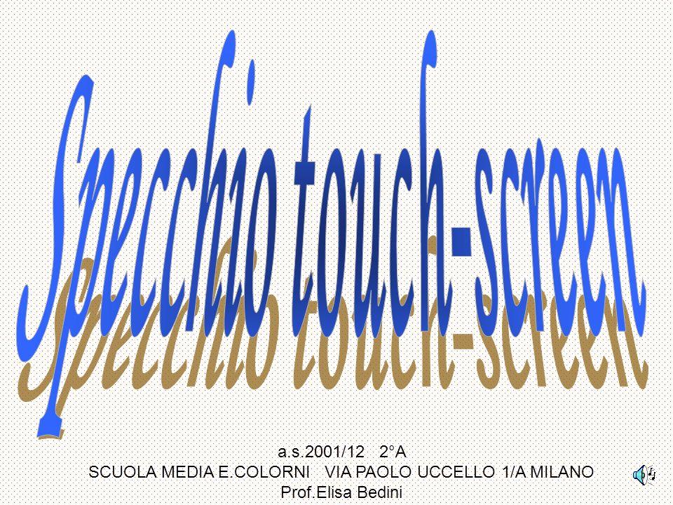 a.s.2001/12 2°A SCUOLA MEDIA E.COLORNI VIA PAOLO UCCELLO 1/A MILANO Prof.Elisa Bedini