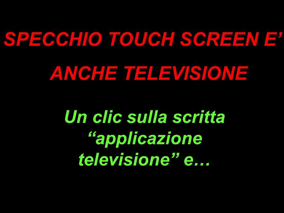 …sarà come vedere la televisione normalmente! <>
