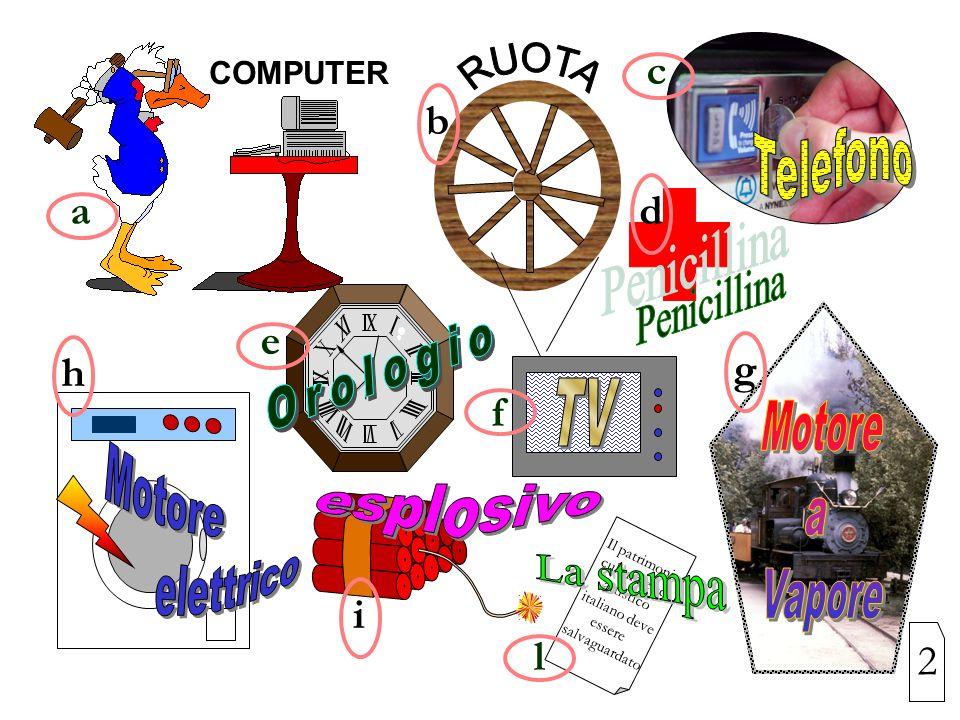 COMPUTER Il patrimonio culturale ed artistico italiano deve essere salvaguardato a bd c e f ghi l 2