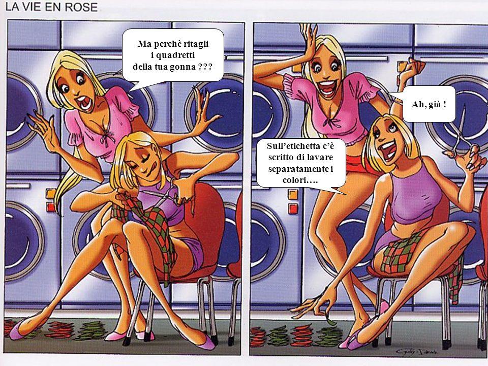 Ma perchè ritagli i quadretti della tua gonna ??? Sulletichetta cè scritto di lavare separatamente i colori…. Ah, già !