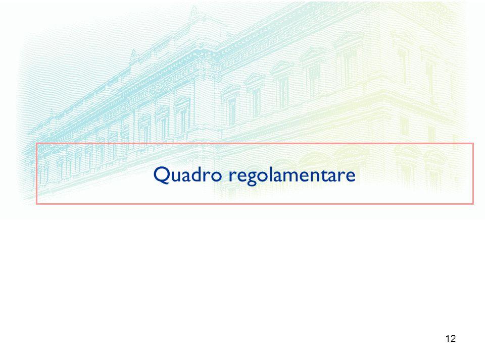 12 Quadro regolamentare
