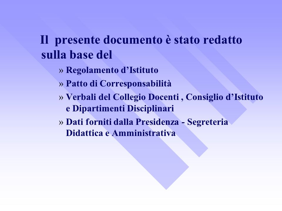 Patto di Corresponsabilità (Art.