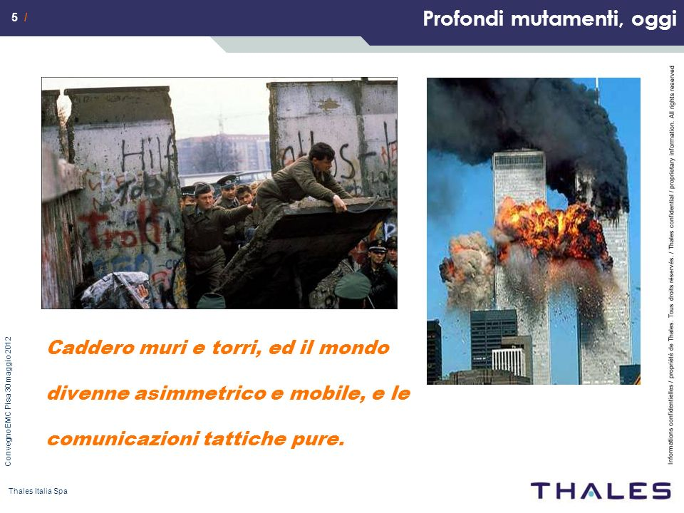 5 / Informations confidentielles / propriété de Thales. Tous droits réservés. / Thales confidential / proprietary information. All rights reserved Con