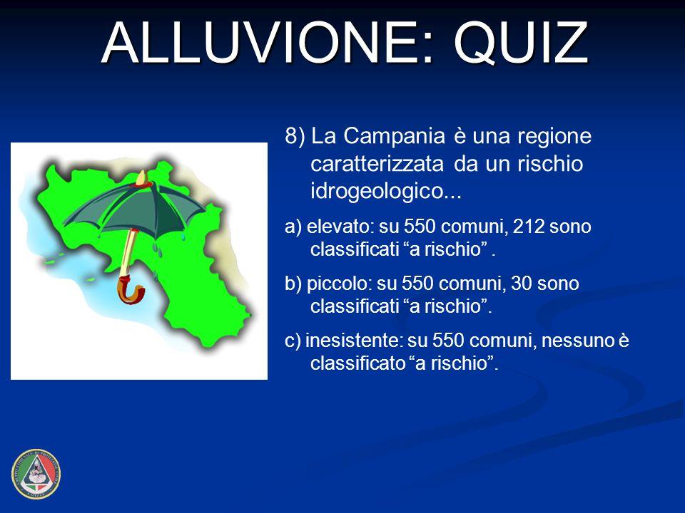 8) La Campania è una regione caratterizzata da un rischio idrogeologico...