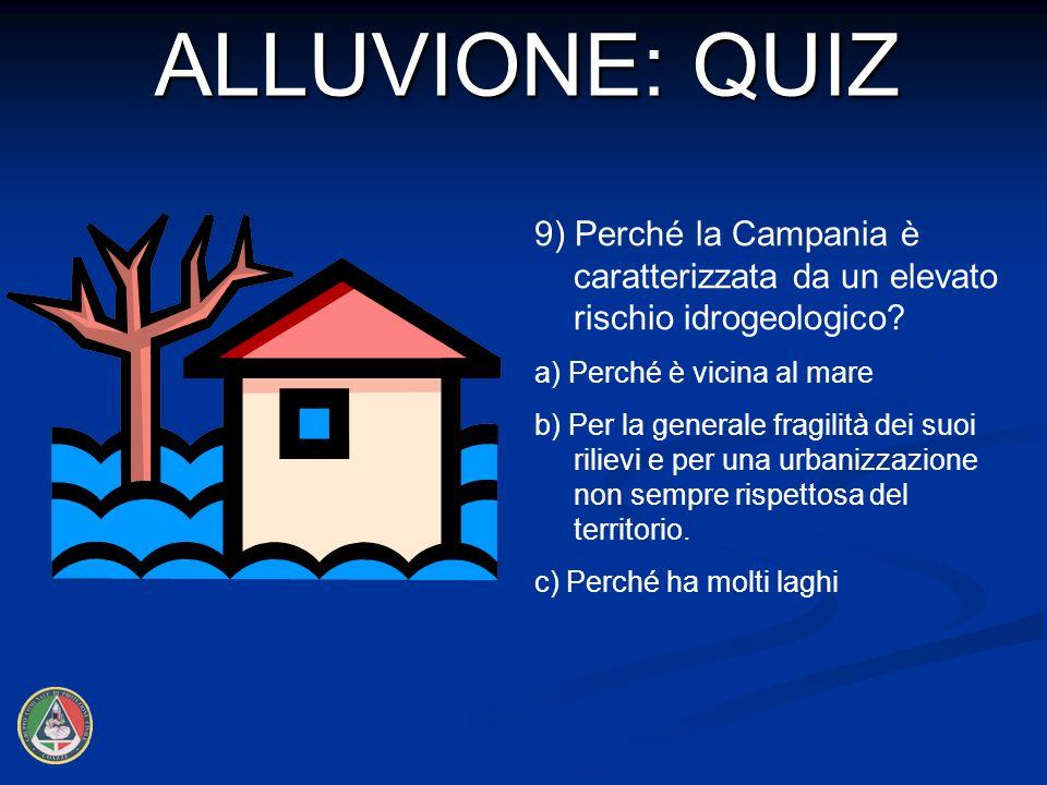 9) Perché la Campania è caratterizzata da un elevato rischio idrogeologico.