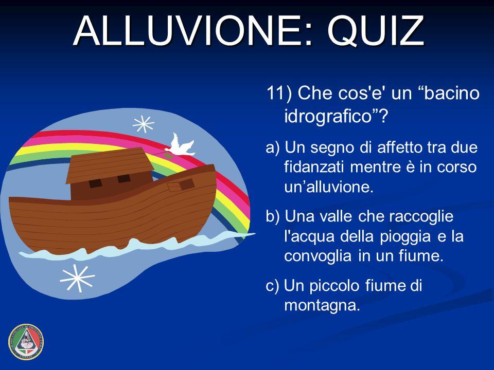 11) Che cos e un bacino idrografico.
