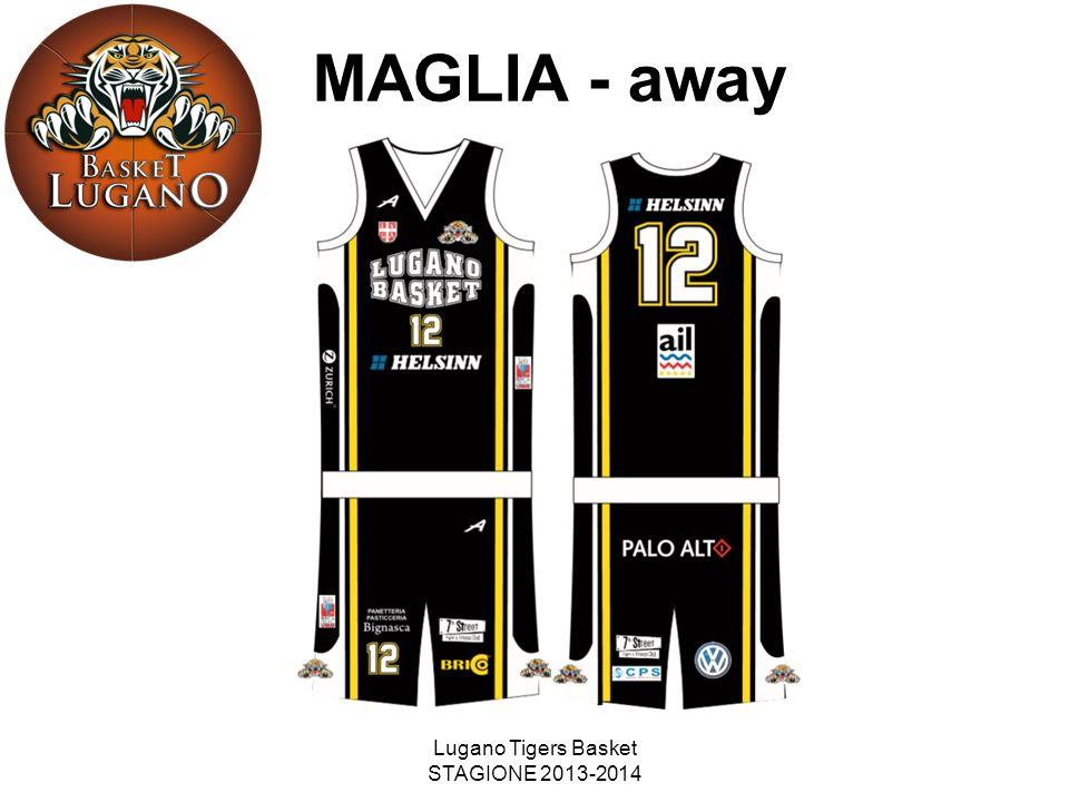 Lugano Tigers Basket STAGIONE 2013-2014 MAGLIA - away