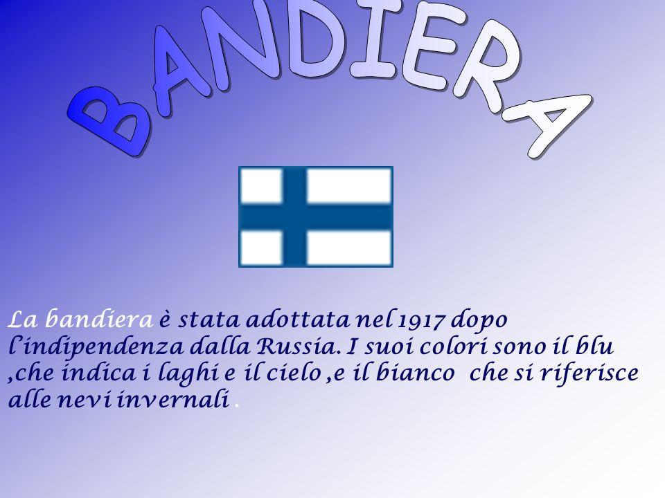 Finlandia deriva da Finland, che vuol dire terra dei finnici ( land - terra, fin - finnici ) o, in finlandese, Suomi ( terra dei laghi ).